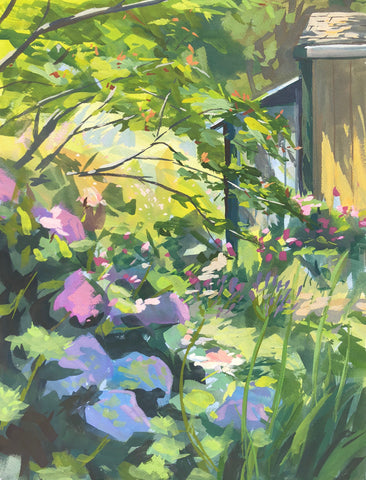 Garden Shade - Original Gouache Painting