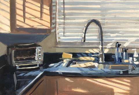 Kitchen Light - Original Gouache Painting