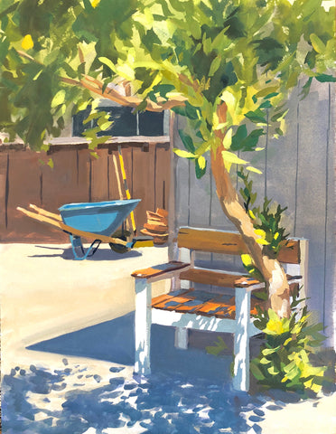 Favorite Chair - Original Gouache Painting