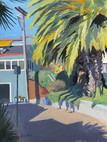 Capitola Palm - Original Gouache Painting