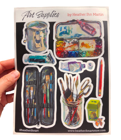 Art Supplies - Sticker sheet