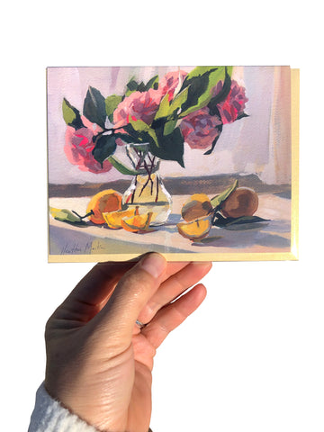 Camellias and Tea Card