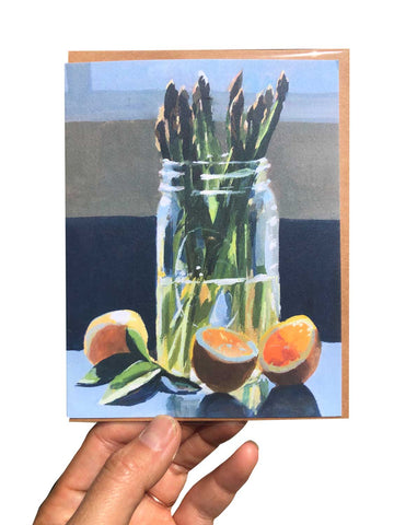 Asparagus and Lemons Card