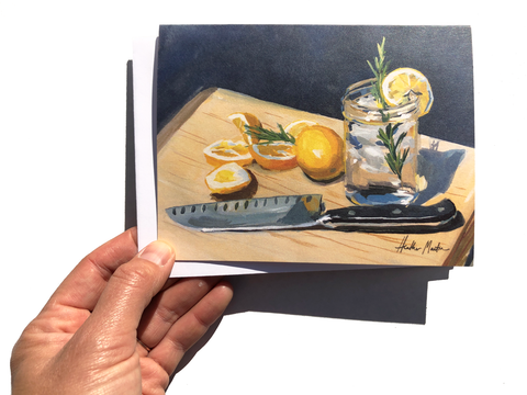 Lemon Cutting Board Card