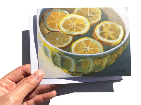 Lemon Bowl Card