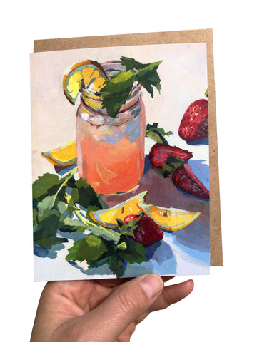 Pink Lemonade Card - Glossy