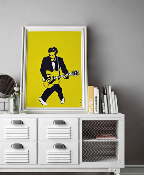 Chuck Berry Painting Poster Art Painting Print