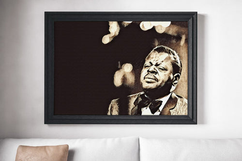 Oscar Peterson Poster Jazz Painting Print Canvas