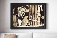 Oscar Peterson Poster Jazz Art Painting Print