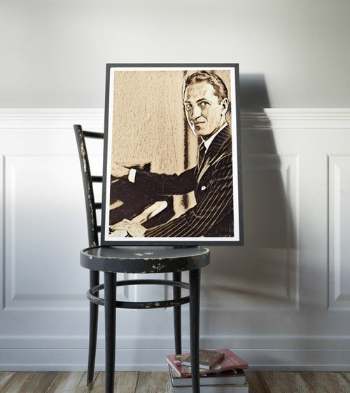 George Gershwin Poster Jazz Art Painting Print
