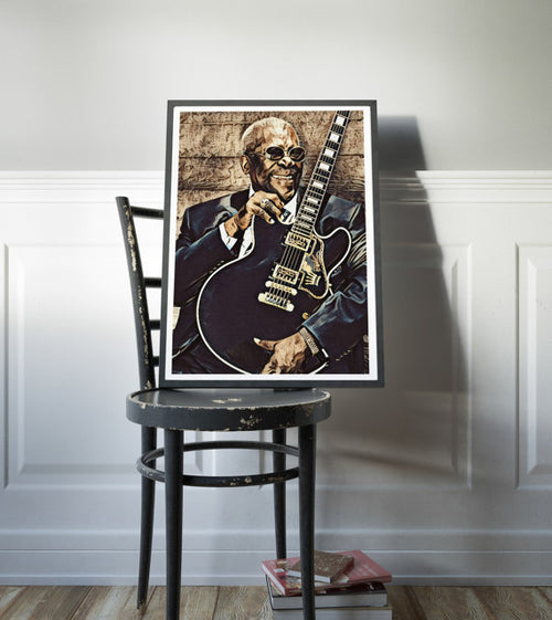 BB King Poster Art Painting Print Canvas Print