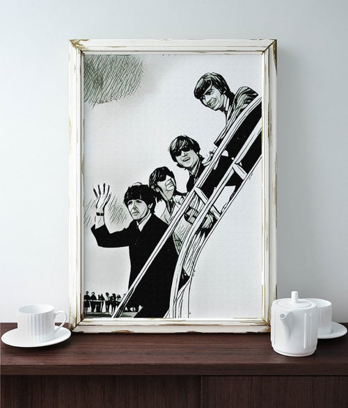 Beatles Poster Art Painting Print Canvas Print