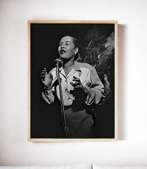 Billie Holiday Poster Jazz Art Painting Print