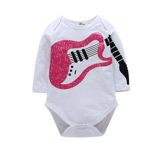 Toddler Infant Girls Boys Guitar Tee