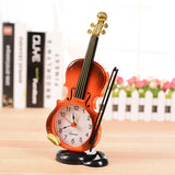 Violin Table Clock