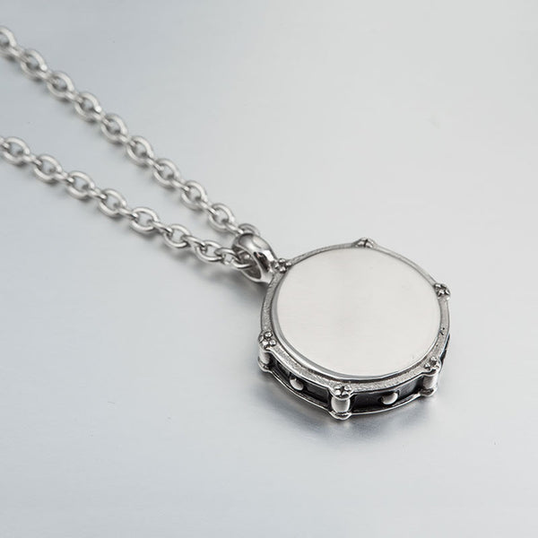 Drummers 316L Stainless Steel Necklace Pendant