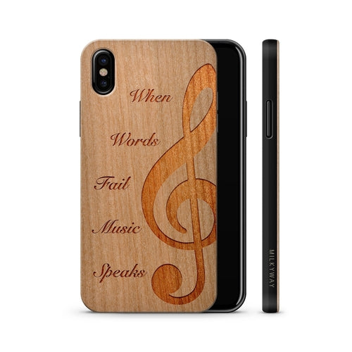 Wood Phone Case  - When Music Speaks