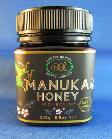 Manuka honey, MGO 500+, Tasmanian Honey Company, 250gms