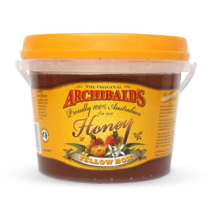 Archibalds yellow box honey 1kg tub