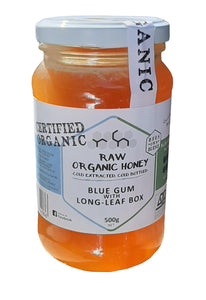 Raw organic blue gum and long leaf box honey