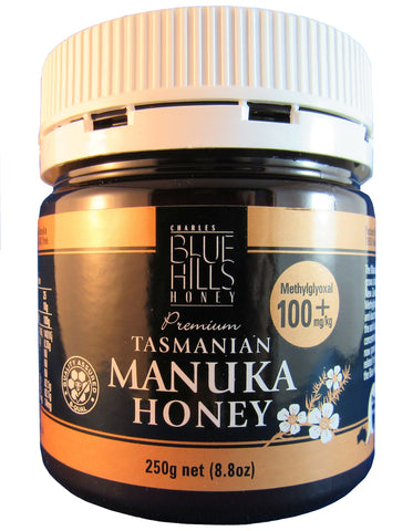Manuka honey (100+), Blue Hills, Tasmanian, 250gms