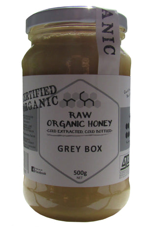 Raw organic greybox honey