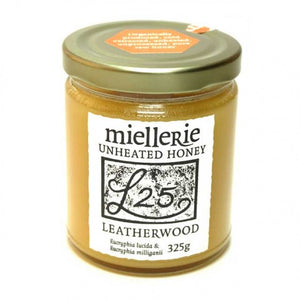 Miellerie leatherwood honey 325gms jars