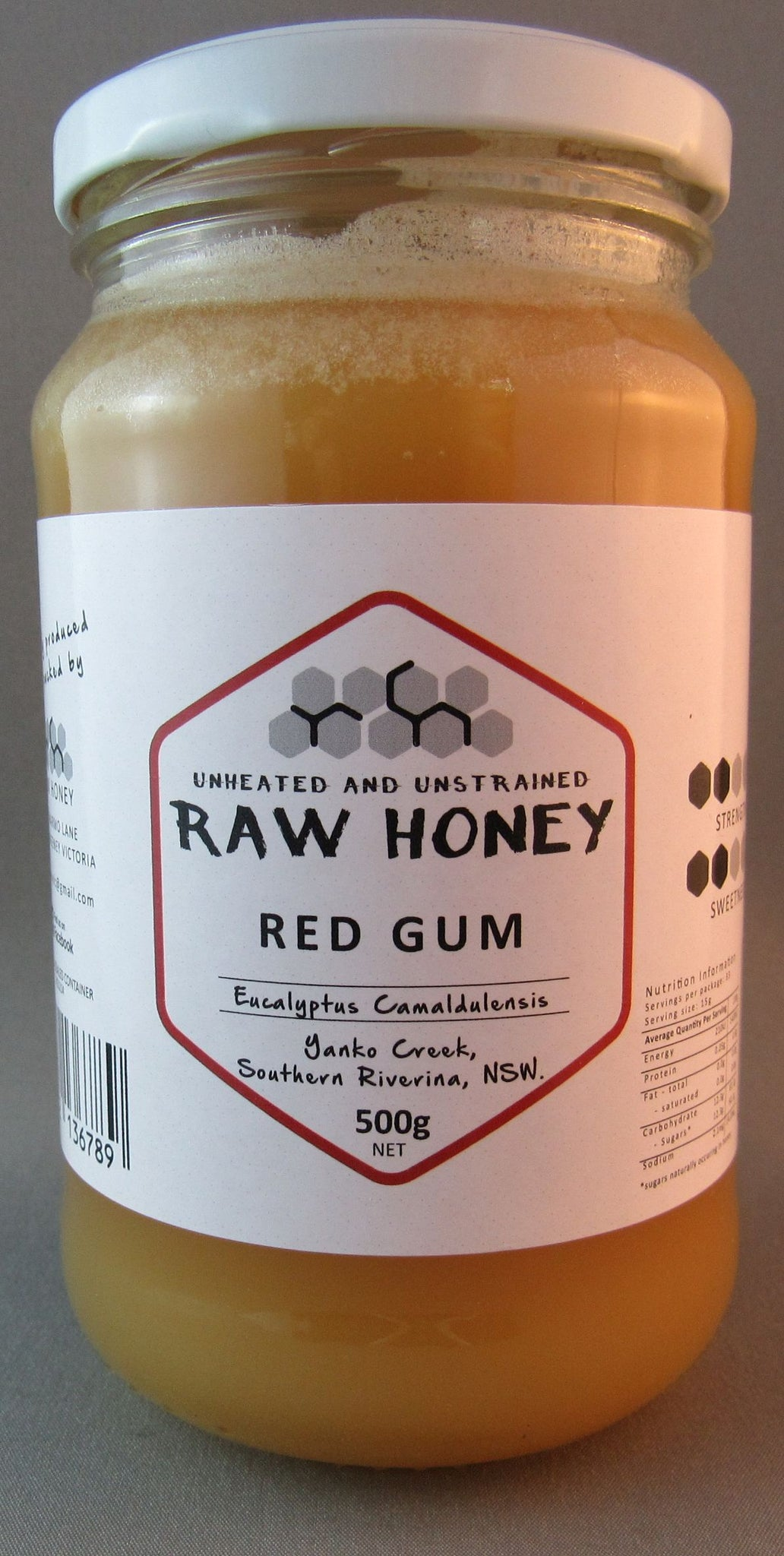 Redgum, raw honey, 500gms