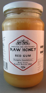 Raw redgum honey