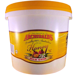 Redgum (eucalyptus) honey, Archibalds, 3kg tub