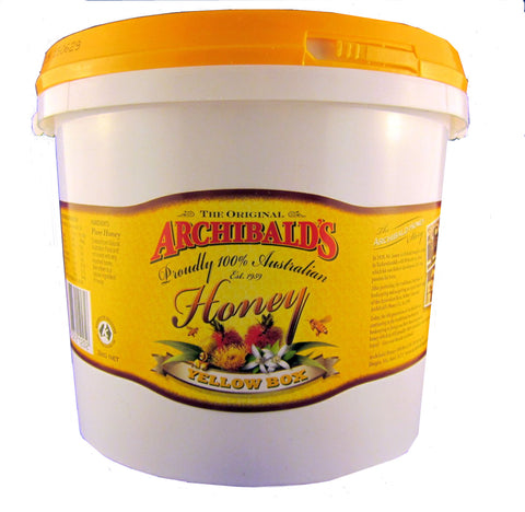 Yellow box (eucalyptus) honey, Archibalds, 3kg tub