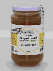 Raw organic yellowbox honey