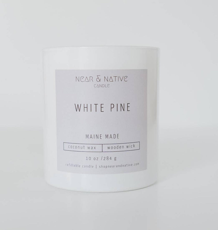 WHITE PINE WOOD WICK CANDLE