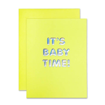 IT'S BABY TIME BABY CARD
