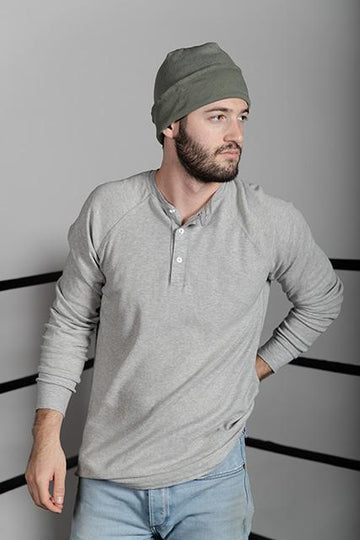 BABY THERMAL HENLEY - HEATHER GRAY