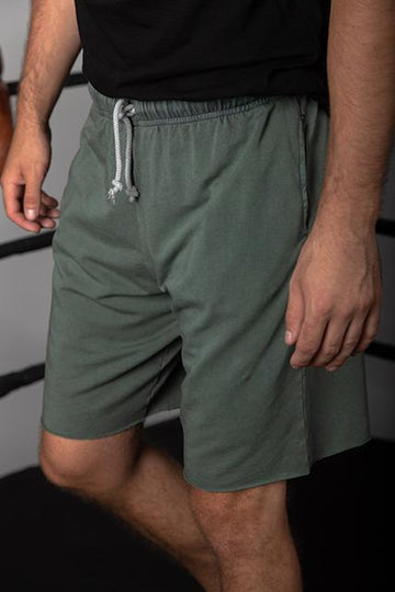 FRENCH TERRY GYM SHORT - ARMY