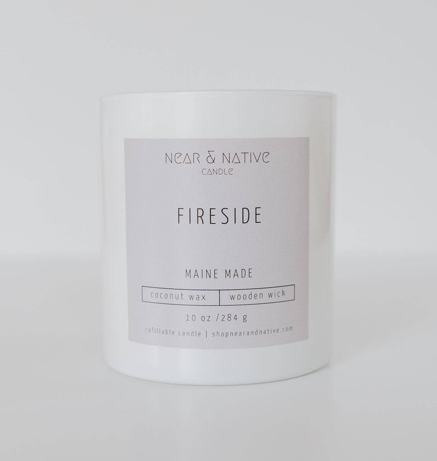 FIRESIDE WOOD WICK CANDLE