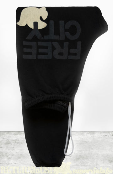 FREECITYLARGE SWEATPANT - BLACKSPACE CREAM
