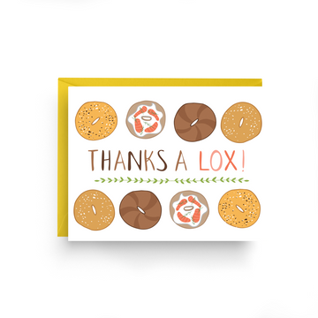 THANK A LOX - BAGEL THANK YOU CARD