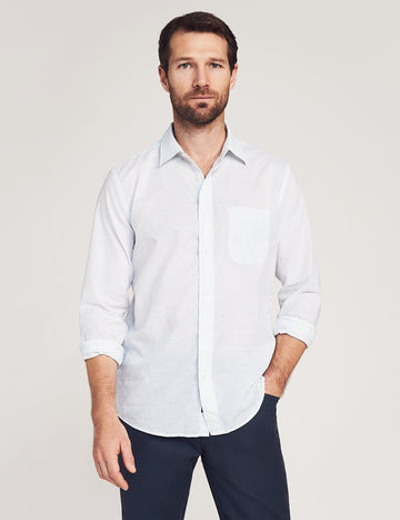 CLOUD SUMMER BLEND SHIRT - WHITE/BLUE STRIPE