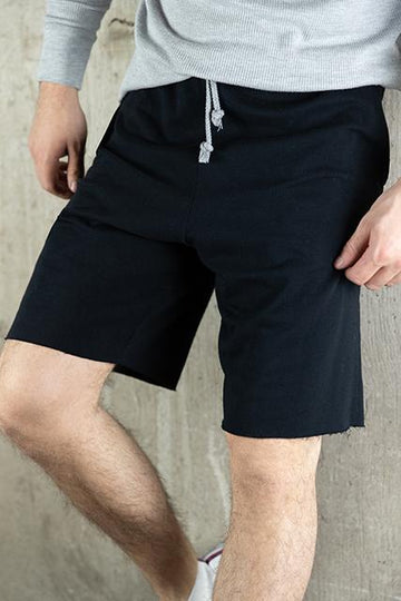 FRENCH TERRY GYM SHORT - BLACK
