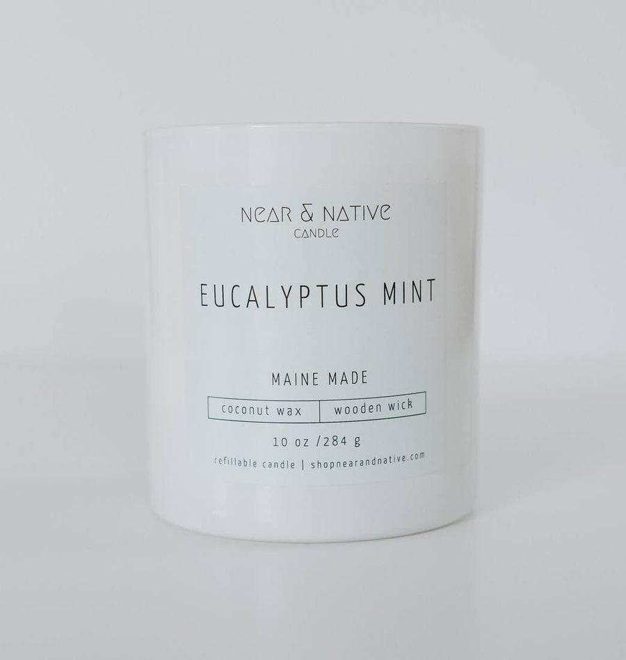 EUCALYPTUS MINT WOOD WICK CANDLE