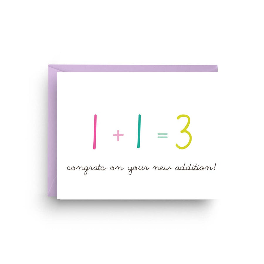 NEW ADDITION BABY CARD