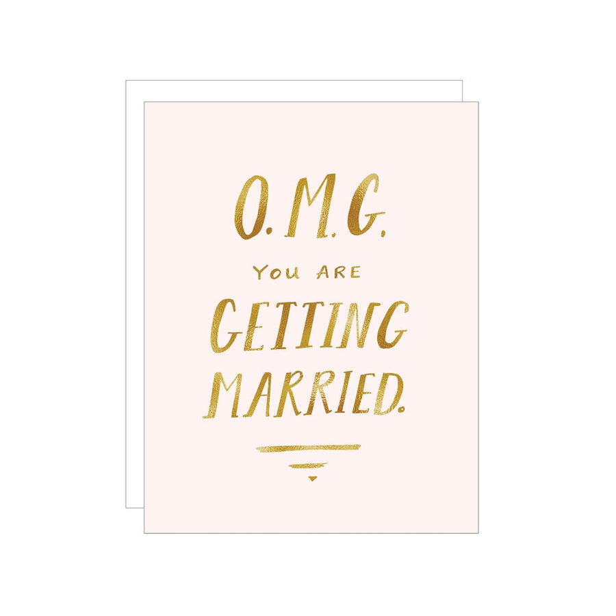 OMG GETTING MARRIED CARD
