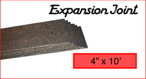 "Expansion Joint 4"" x 10'"