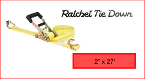 "Ratchet Tie Down 2"" x 27'"