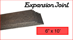 "Expansion Joint 6"" x 10'"