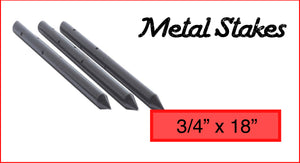 "Metal Stakes 3/4"" x 18"""