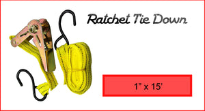 "Ratchet Tie Down 1"" x 15'"