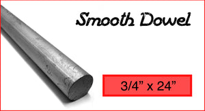 "Smooth Dowel #6 3/4"" x 24"""